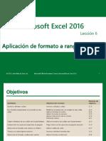 Excel Core 2016 Lesson 06