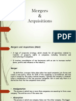 Group 9- Mergers and Acquisitions