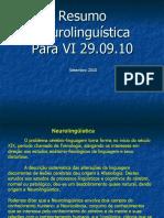 Neurolinguistica Resumo Para VI