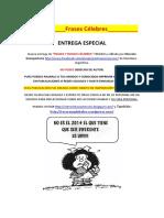 Frases y Dichos Célebres 30°