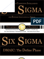 Six Sigma DMAIC Define 1