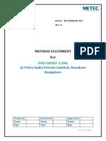Tank Method Statement - r0