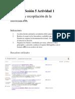 Unidad 2 Sesión 5 Actividad 1 Selección y recopilación de información