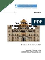 Masterbatch Proceso