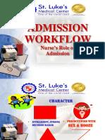 Admission Workflow