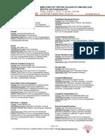 Employer List Fall Job and Internship Fair 2010 - Communication and LAS