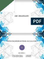 Sistem Transportasi Publik Dan Jalan Rel Kelompok 1