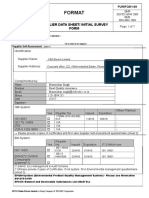 PUR FO 01-09 Supplier Data Sheet