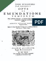 Opus de Emendatione Temporum