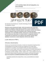 Atlantisng.com-Kastaun Kest- El Nombre Íbero de La Fusayola y Su Vínculo Con La Iberia Oriental