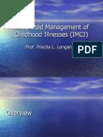 Integrated Management of Childhood Illnesses (IMCI)
