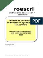 PROESCRI Instrucciones de Aplicacion 2004