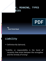 Liability, Meaning its kinds and theories
