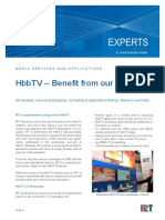 IRT HbbTV Showcases Service Prototyping Consulting Application Testing Seminars