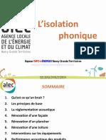 ALEC15 Isolation Phonique