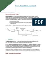 Activated Sludge Process, Design Criteria, Advantages & Disadvantages