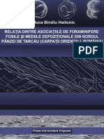 Relatia Dintre Asociatiile de Foraminifere Fosile Si Mediile Depoziționale Din Nordul Panzei de Tarcau, Raluca Bindiu, 2018, E-book