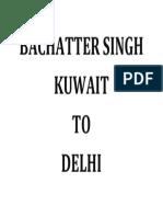 Bachatter Singh