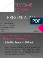 Research Methods Presentation