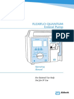 Abbott Flexiflo Quantum Infusion Pump - User Manual