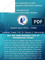 Std176265 HW 2 Categories of Information Systems