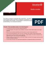 Learning Info Sheets Media Studies