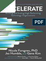 Accelerate - Forsgren PhD
