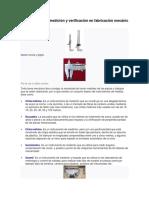Instrumentos de Medición y Verificación en Fabricación Mecánic