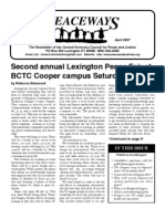 April 2007 Peaceways Newsletter, Central Kentucky Council for Peace and Justice