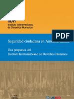 Seguridad Ciudadana en América Latina. Una propuesta del Instituto Interamericano de Derechos Humanos