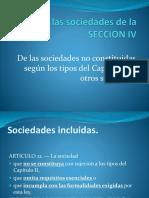 CLASE de Las Sociedades de La SECCION IV