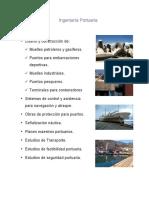 1 Ingeniería Portuaria. Servicios_ Diseño Construcción De_ ü Muelles Petroleros y Gasíferos. ü Puertos Para Embarcaciones Deportivas.