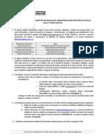 Especificaciones Para Muestras de Suelos, Agua y Tejido Vegetal 2017