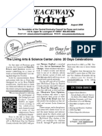 August 2008 Peaceways Newsletter, Central Kentucky Council for Peace and Justice