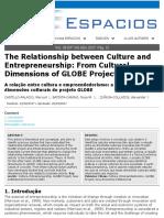 Culture and Entrepreneurship