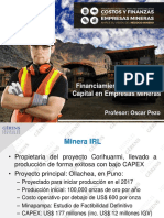 Financiamiento y Costo de Capital en minería