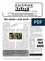 Nov-Dec 2009 Peaceways Newsletter, Central Kentucky Council for Peace and Justice