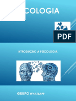 Assunto 01 - Introduo Psicologia - Aula 1 e 2 - 2018