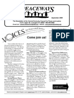 September 2009 Peaceways Newsletter, Central Kentucky Council for Peace and Justice