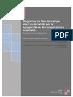 Diagramas de fase del campo eléctrico inducido por la agregación en  las suspensiones coloidales