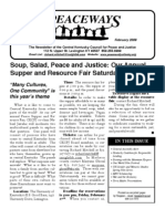 February 2009 Peaceways Newsletter, Central Kentucky Council for Peace and Justice