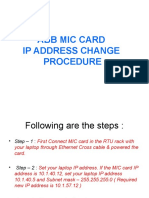 MIC Card IP Change