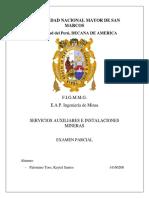Servicios Auxiliares e Instalaciones en Mineria