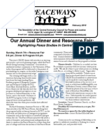 February 2010 Peaceways Newsletter, Central Kentucky Council for Peace and Justice
