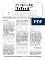 January 2010 Peaceways Newsletter, Central Kentucky Council for Peace and Justice