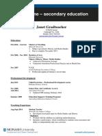 Education Post Grad Resume