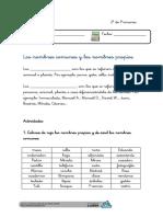 Nombres Propios y Nombres Comunes Ficha