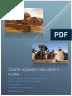 Construcciones Con Adobe y Piedra