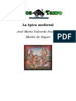 Valverde Pacheco, J. M. _ Riquer, Martin de - La epica medieval.doc