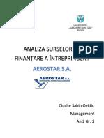 Proiect finanțe - Analiza Surselor de Finanțare a Întreprinderii